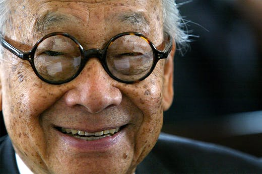 I.M. Pei photographed in 2004.