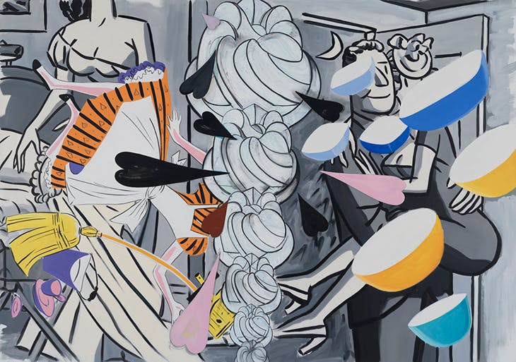 Grey Honeymoon (2018–19), David Salle.