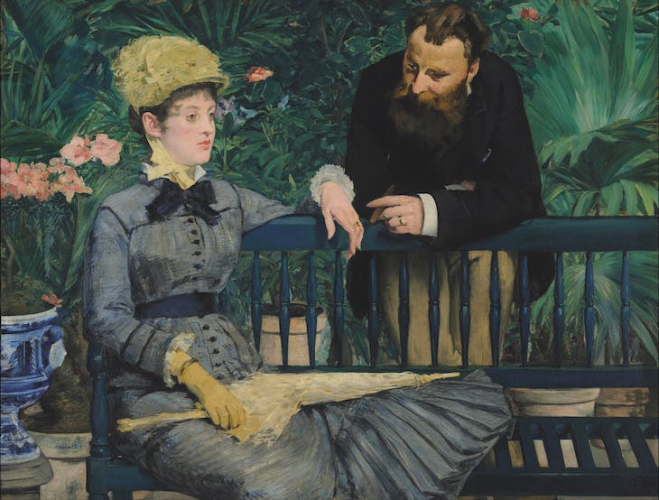 In the Conservatory (c. 1877–79), Édouard Manet.