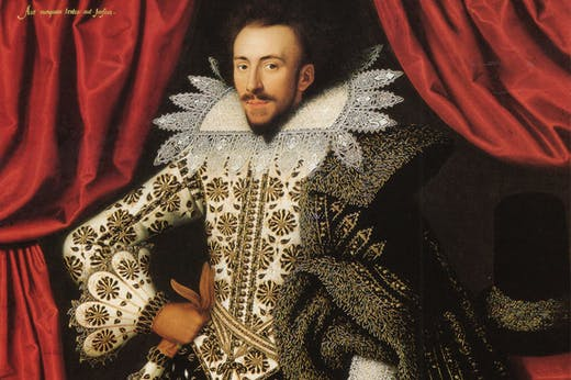 Richard Sackville (1589–1624), 3rd Earl of Dorset (detail; 1613), William Larkin. English Heritage, Kenwood.