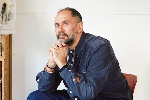 Enrico David (b. 1966), photographed in his studio in Hackney, London, in January 2019.