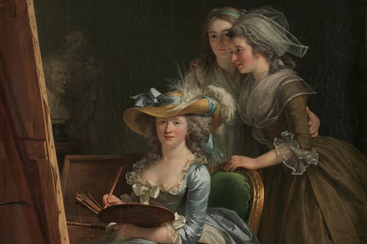 Self-Portrait with Two Pupils, 1785, Adélaïde Labille-Guiard, Metropolitan Museum of Art