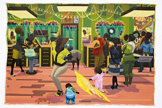 School of Beauty, School of Culture (2012), Kerry James Marshall. Birmingham Museum of Art. Courtesy the artist and David Zwirner; © Kerry James Marshall