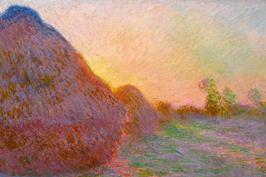 Meules(1890), Claude Monet. Courtesy Sotheby's