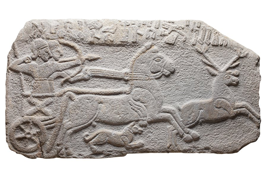 Relief showing a scene from a deer hunt, 9th century BC, Neo-Hittite kingdom of Milid (modern-day Malatya, Turkey), Musée du Louvre, Paris