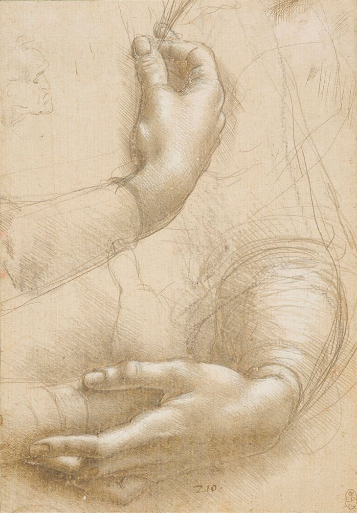 A Study of a Woman's Hands (c. 1490), Leonardo da Vinci. Royal Collection Trust; © Her Majesty Queen Elizabeth II 2019