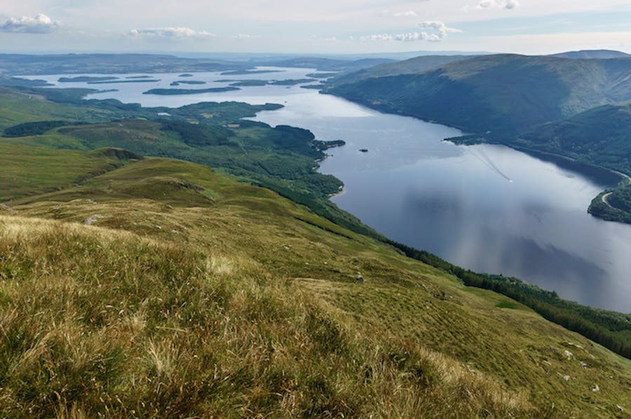 Loch Lomond, looking south from Ben Lomond.