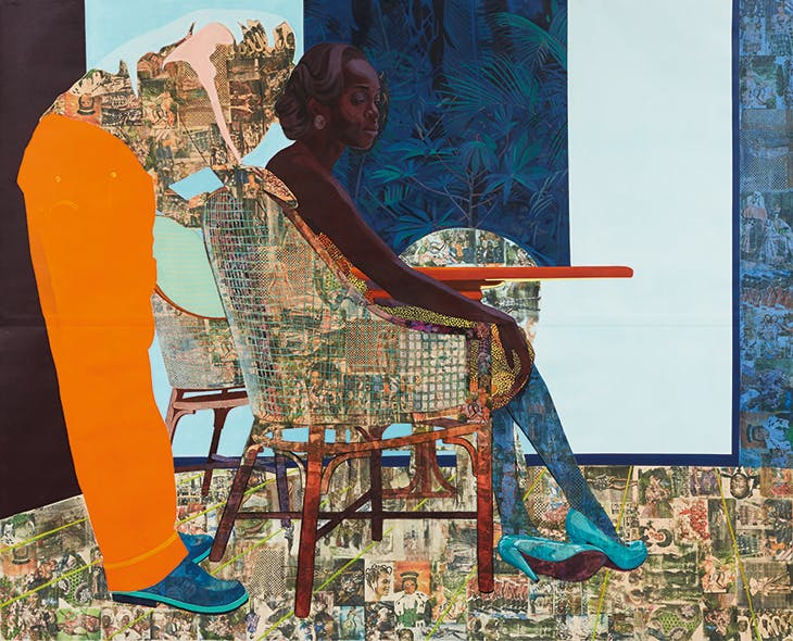 And We Begin to Let Go (2013), Njideka Akunyili Crosby.