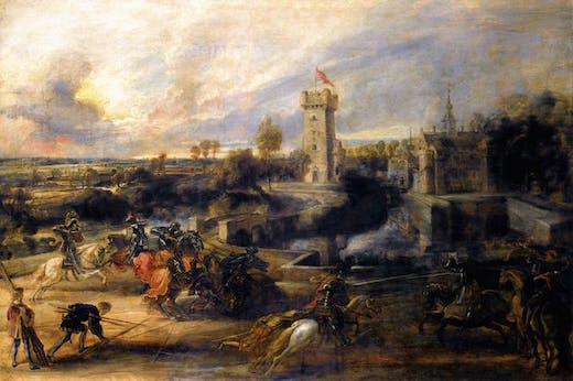 Tournament in Front of Castle Steen (1635–37), Peter Paul Rubens.
