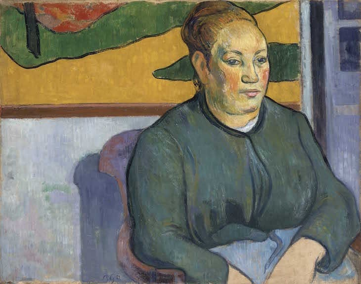 Portrait of Madame Roulin (1888), Paul Gauguin.