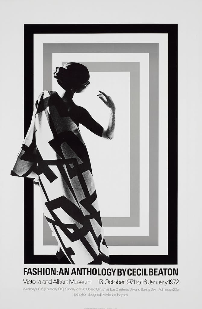 Poster for the exhibition 'Fashion: An Anthology by Cecil Beaton' in 1971–72 at the Victoria and Albert Museum, London, Image: © Victoria and Albert Museum, London