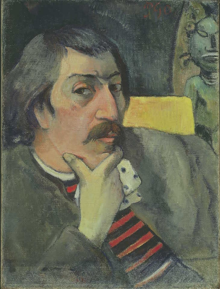 Self Portrait with Idol (1893), Paul Gauguin.