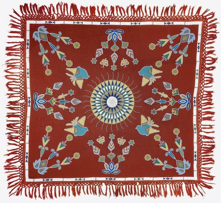 Table cloth (c. 1900), Sisseton Dakota artist.