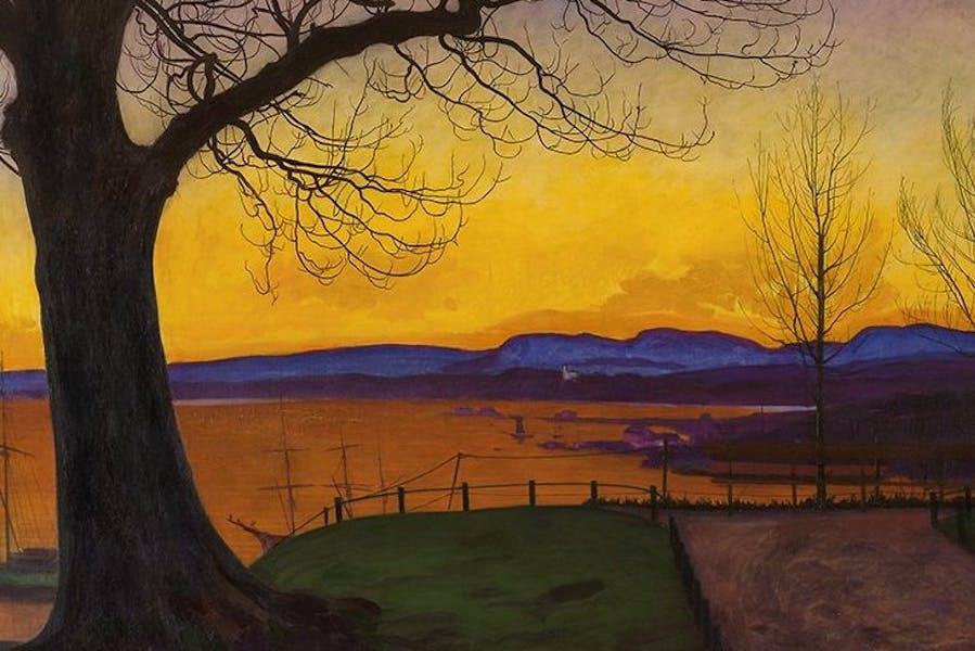 Spring Evening, Akerhus Fortress (1913), Harald Sohlberg.