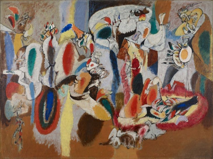 The Liver is the Cock's Comb (1944), Arshile Gorky.