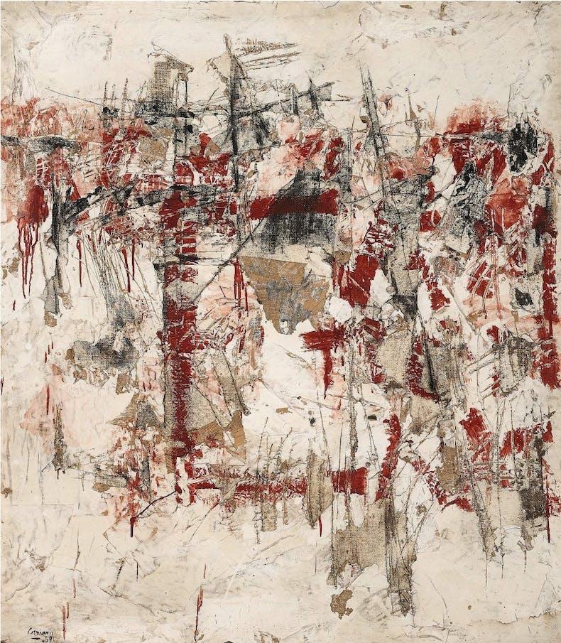 Hommage aux murs d'Athènes, (1959), Vlassis Caniaris, courtesy Waddington Custot