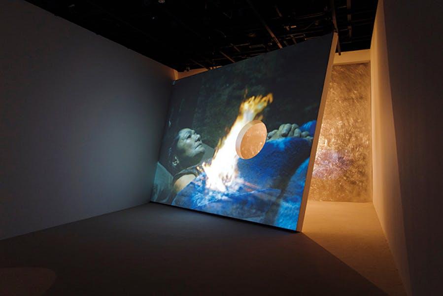 Installation view of Synchronicity (2018) at Mori Art Museum, Tokyo, Apichatpong Weerasethakul and Tsuyoshi Hisakado.