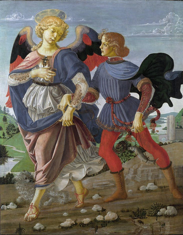 Tobias and the Angel (c. 1470–75), Andrea del Verrocchio.