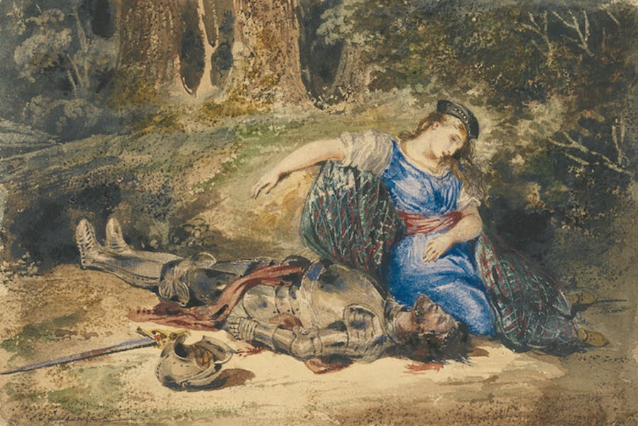 The Death of Lara (c. 1824), Eugène Delacroix.
