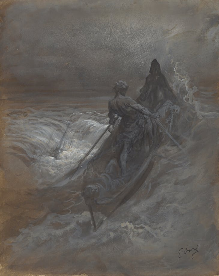 After the Shipwreck - Design for an Illustration of Coleridge's The Rime of the Ancient Mariner (c. 1875), Gustave Doré.