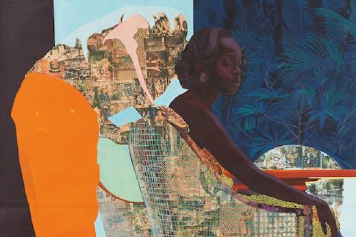 And We Begin To Let Go (detail; 2013), Njideka Akunyili Crosby.