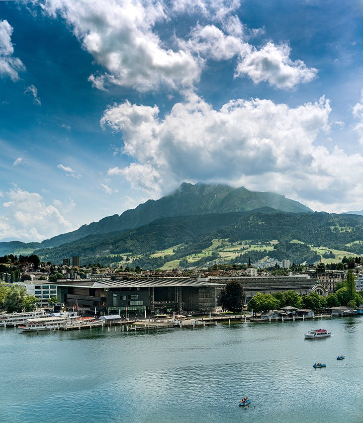 The Lucerne Culture and Congress Centre.