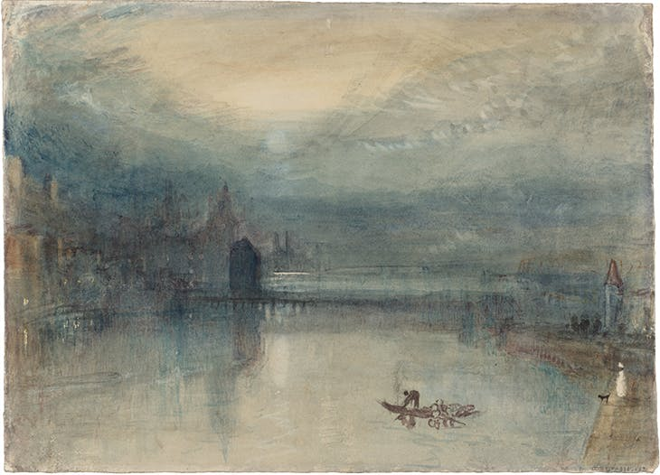 Lucerne by Moonlight: Sample Study (c. 1842–43), J.M.W. Turner.