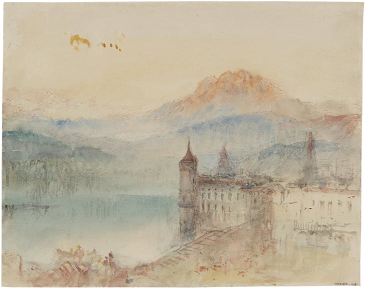 Lucerne with Pilatus beyond (c. 1841–44), J.M.W. Turner.