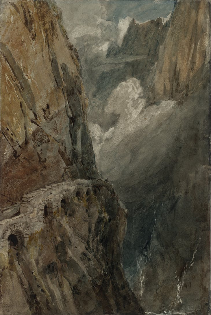 The Schöllenen Gorge from the Devil's Bridge, Pass of St Gotthard (1802), J.M.W. Turner.