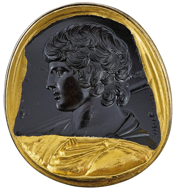 Intaglio portrait of Antinous (c. 130–38 AD), Roman.