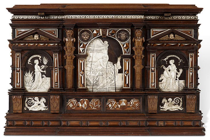 The court casket from Newbattle Abbey (1565), Master of Perspective, Nuremberg (£750,000).