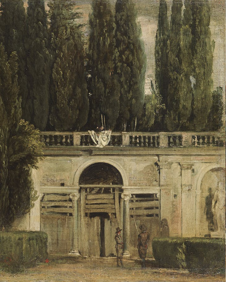 View of the Gardens of the Villa Medici, Rome (c. 1630), Diego Velázquez.