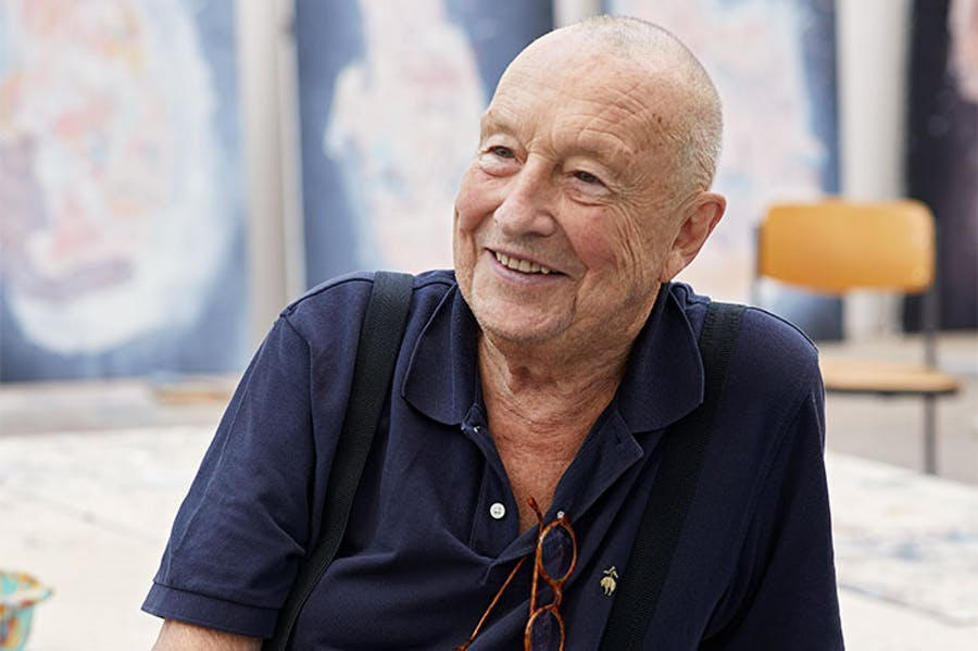 Georg Baselitz (b. 1938) in Ammersee, Germany, 2018.