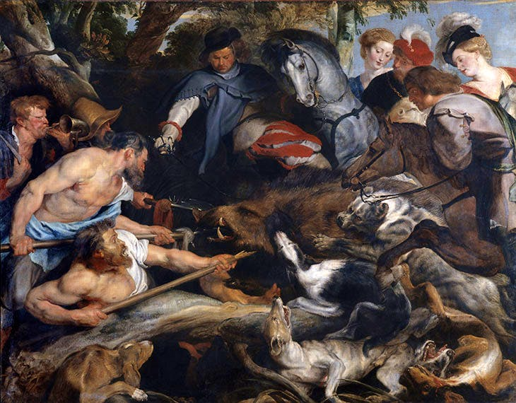 The Boar Hunt (c. 1615–17), Peter Paul Rubens. Musée des Beaux Arts, Marseille.