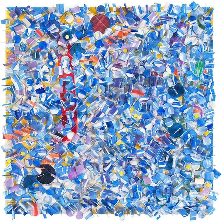 Untitled #59 (2010), Howardena Pindell.