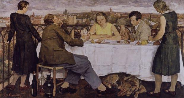 Evening over Potsdam, (1930), Lotte Laserstein. Staatliche Museen zu Berlin, Nationalgalerie, VG Bild-Kunst, Bonn 2019
