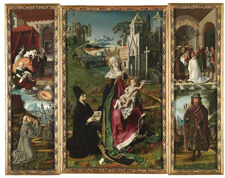 Triptych of the Virgin of Montserrat (c. 1483–84), Bartolomé Bermejo.