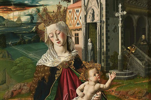 Triptych of the Virgin of Montserrat (detail; c. 1470–75), Bartolomé Bermejo.
