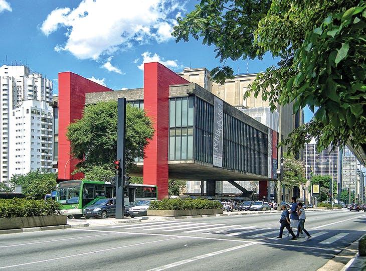 São Paulo Museum of Art (MASP), São Paulo, Brazil, designed by Lina Bo Bardi and built in 1957–68.