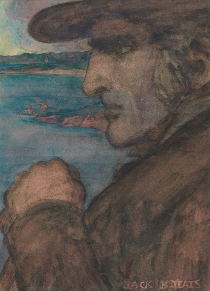 Portrait Figure of an Irish Gentleman (1900–05), Jack B. Yeats.