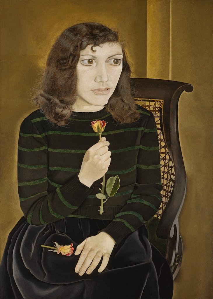 Girl with Roses (1947–48), Lucian Freud.