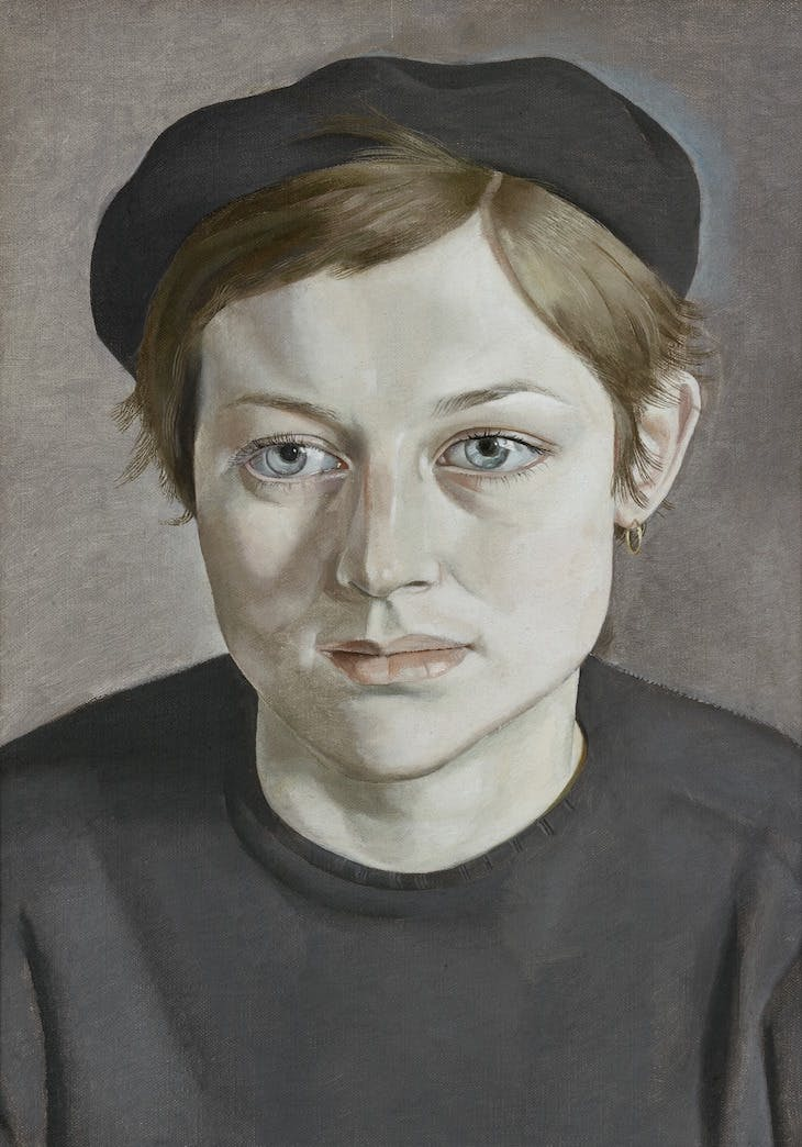 Girl with Beret (195–52), Lucian Freud.