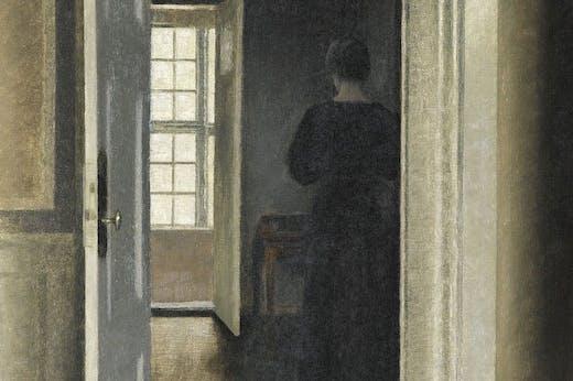 Interior. Strandgade 30 (1901), Vilhelm Hammershøi.