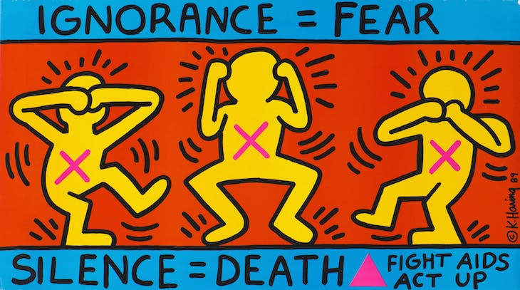 Ignorance = Fear (1989), Keith Haring.