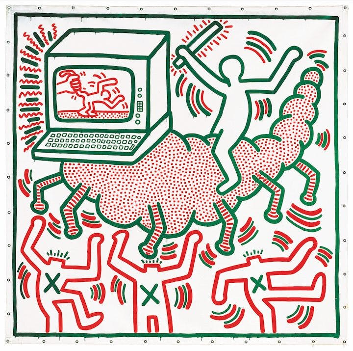 Untitled (1983), Keith Haring.
