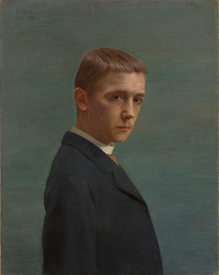 Self-portrait at the Age of Twenty(1885), Félix Vallotton. Musée Cantonal des Beaux-Arts de Lausanne.