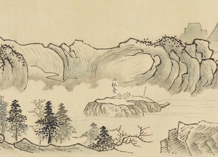 Nine bends of the Juiquxi River in the Wuyi mountains (1772), Kō Fuyō.
