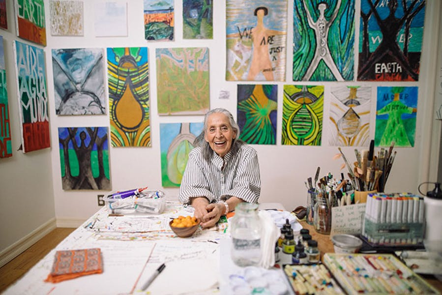 Luchita Hurtado (b. 1920) photographed in 2019.