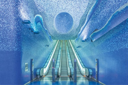 Toledo metro station in Naples, designed by Oscar Tusquets Blanca.