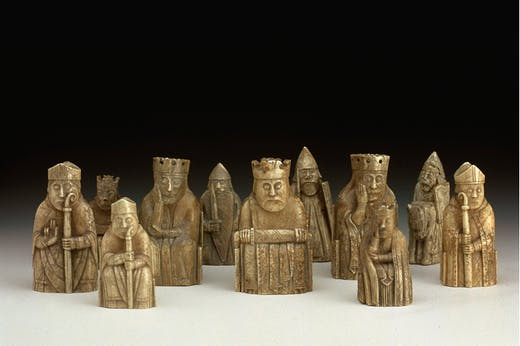 The 11 Lewis chess pieces owned by the National Museums Scotland. Photo: © National Museums Scotland
